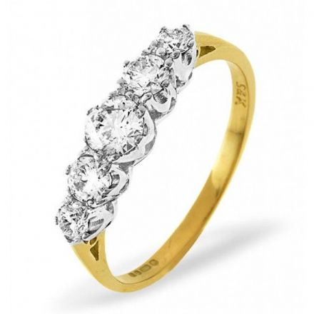 18K Gold 0.33ct H/si Diamond Ring, DR06-33HSY